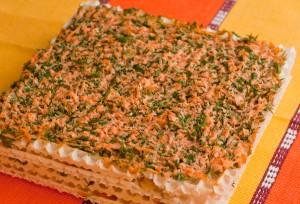 верхний корж торта