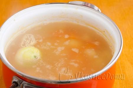 суп доводим до кипения