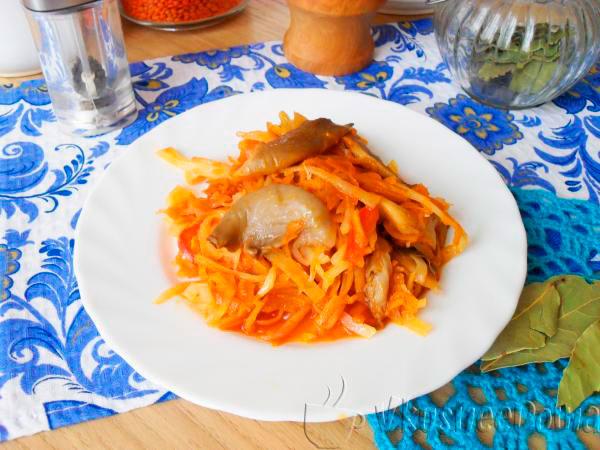рецепт тушеной капусты с грибами