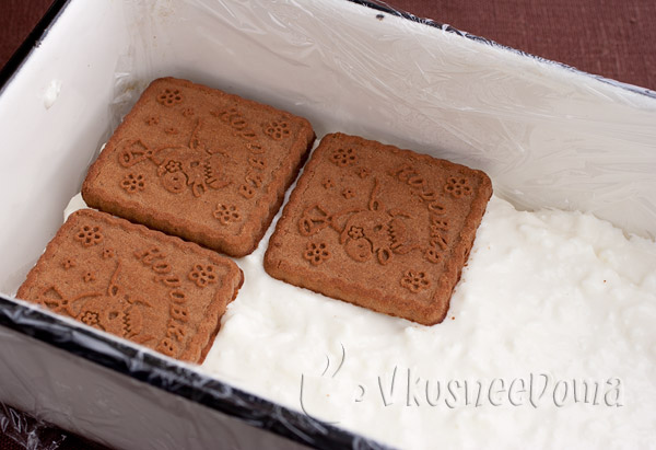 Торт из печенья и творога с желатином рецепты
