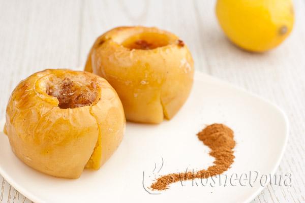 запеченные яблоки кусочками в духовке рецепт