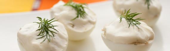 Яйца фаршированные (скумбрией)