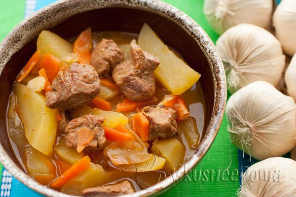 жаркое из свинины с картошкой в мультиварке рецепт с фото пошагово