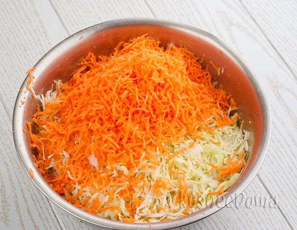 мелко натертая морковь