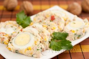 яйца в сырном желе