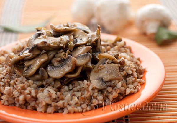 гречневая каша с сушеными грибами рецепт