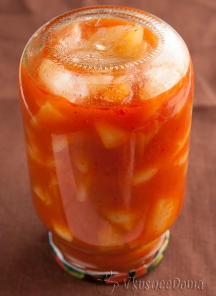 готовый сладкий перец в томатном соке