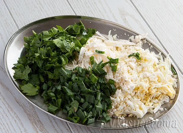 режим зелень и трем сыр для фаршировки