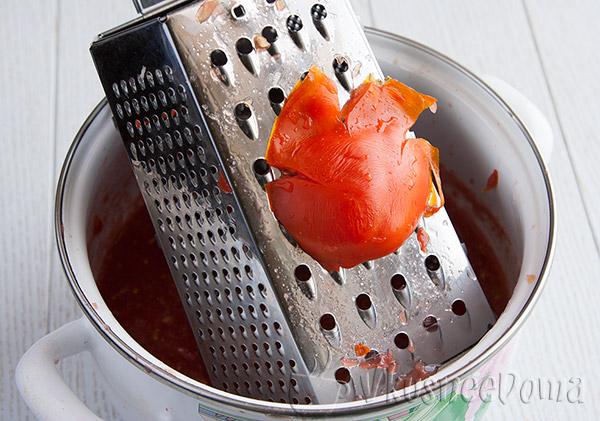 помидоры пропускаем через терку