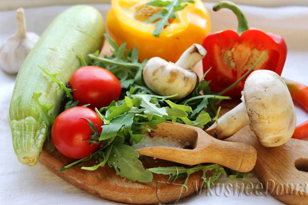 инредиенты для теплого салата