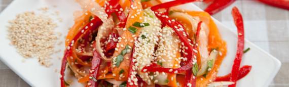 Легкий овощной салат рецепт с фото