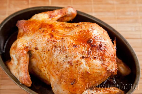 запекается курица 1 час