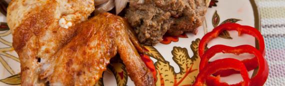 Фаршированная курица в духовке рецепт с фото