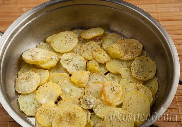 1-й слой - картошка