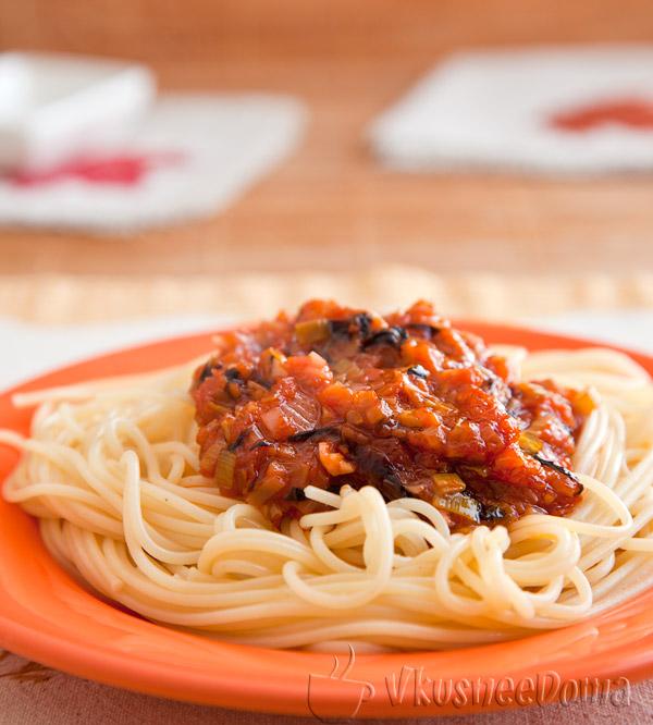 томатный соус для спагетти из свежих помидор