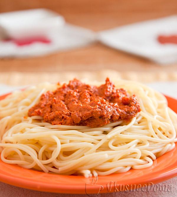 соус для спагетти из вяленых помидор