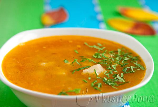 Суп из рыбных консервов томатный