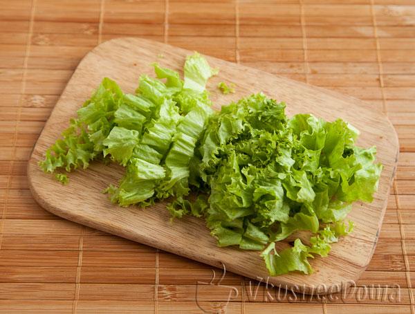 режем салат