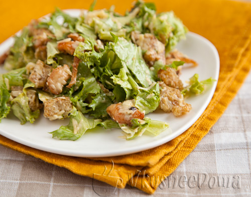 Рецепт салата Цезарь пошагово с фото