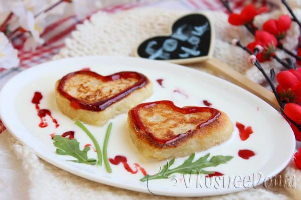сырники из манки на день Святого Валентина