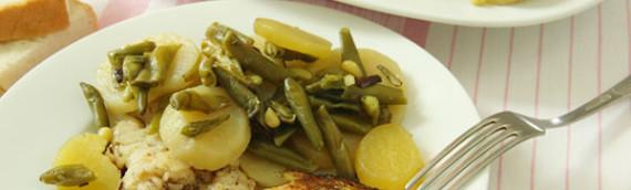 Рыба в духовке с картошкой (хек в рукаве)
