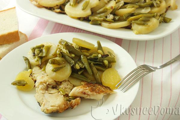 рыба в духовке с картошкой