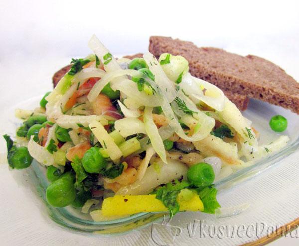 салат с лососем слабосоленым