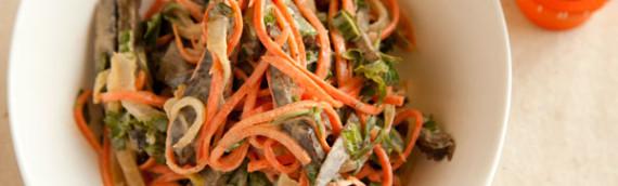 Русский салат с корейской морковкой