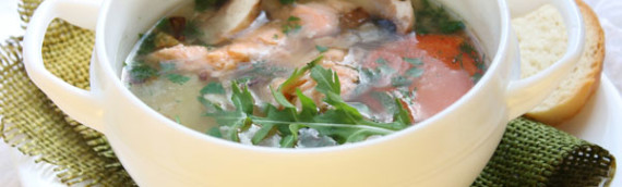 Рыбный суп из семги (почти норвежский)