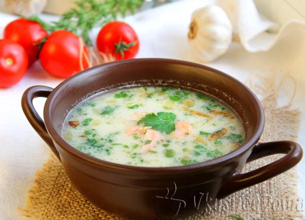 сливочный рыбный суп из семги рецепт с фото