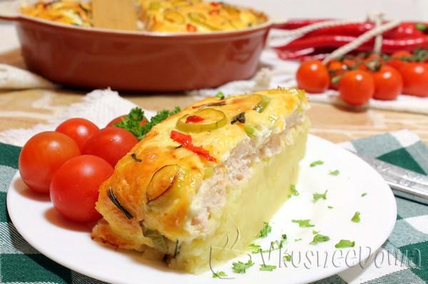картофельная запеканка с курицей рецепт с фото