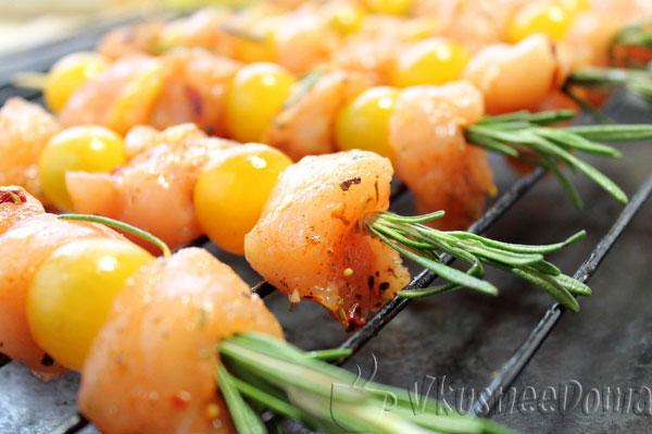 Пряный овощной шашлык – кулинарный рецепт
