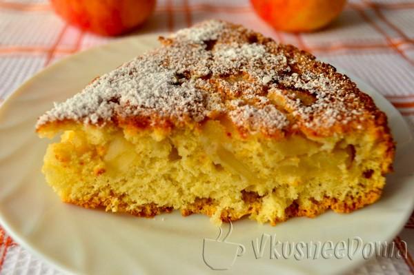 Пышный и простой пирог с яблоками рецепт с фото