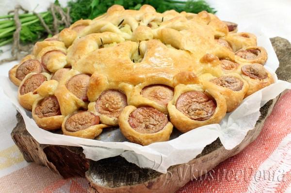 Пирожки с сосиской и картошкой рецепт в духовке