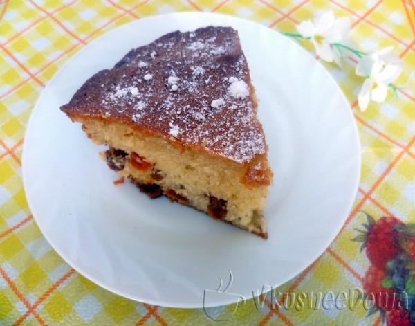 Кекс рецепт простой в духовке с изюмом и курагой