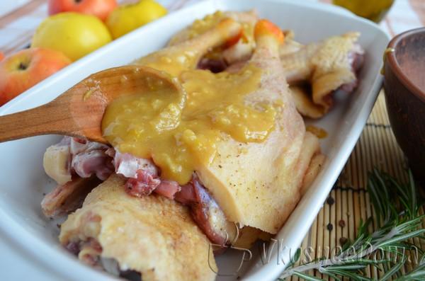 мясо маринуем в горчичном соусе