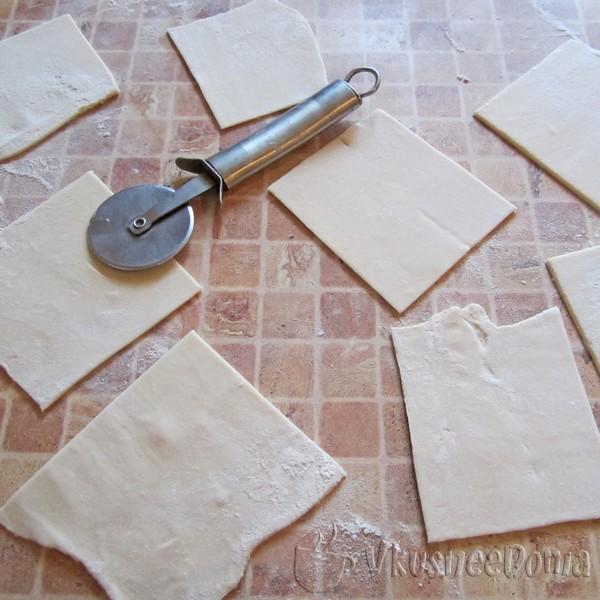 тесто разрезам на квадратики