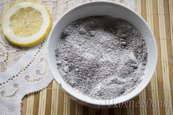к маку добавляем сахарную пудру