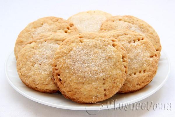печенье из песочного теста на майонезе и коньяке