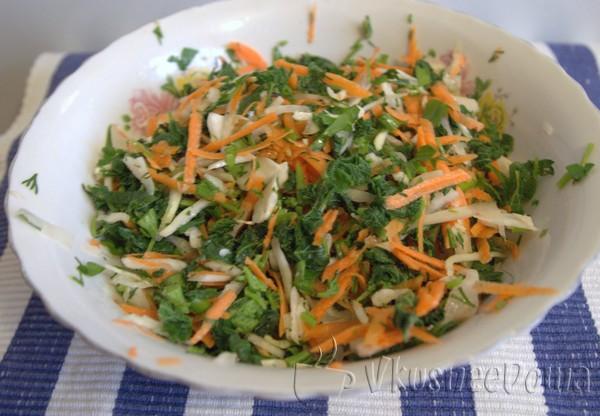 салат из крапивы рецепт с фото