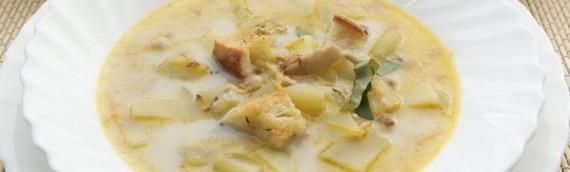 Чешский сырный суп с плавленным сыром (острый)