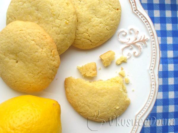 лимонное сахарное печенье рецепт с фото
