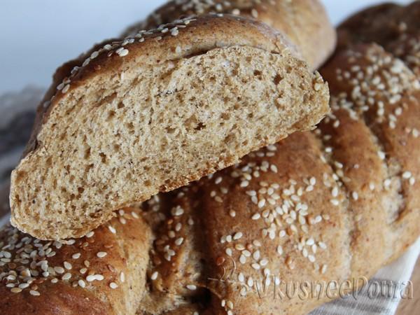 Ржаной хлеб с отрубями в хлебопечке Панасоник