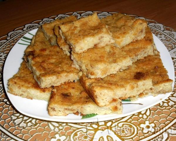 Ленивая и сладкая запеканка из черствого хлеба