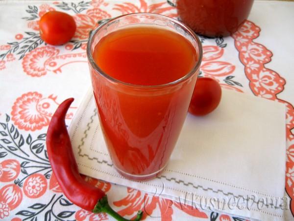 Сок из помидор на зиму (из свежих и квашеных)