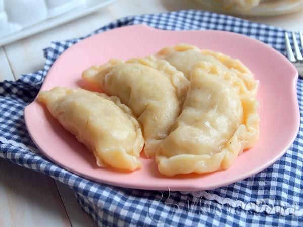 Вкусные вареники с картошкой жареной