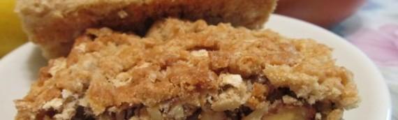 Домашний ореховый пирог из песочного теста