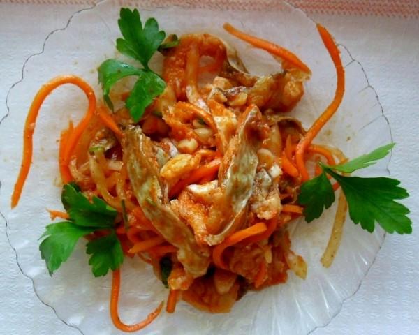 как приготовить хе из толстолобика без моркови