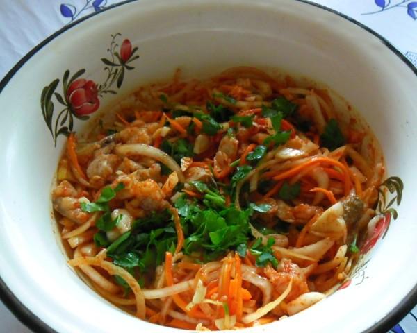 как приготовить хе из толстолобика по-корейски