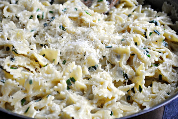 fresh parmesan... and lots